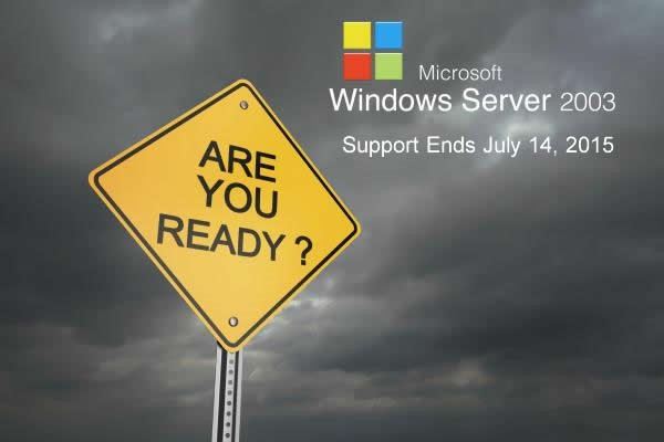 Server 2003 support is ending July 14, 2015